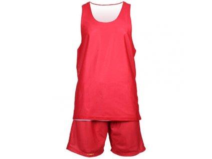 BD-1 basketbalový komplet červená-bílá