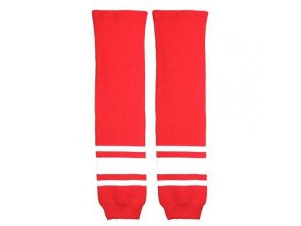 Loko hokejové štulpny junior červená-bílá