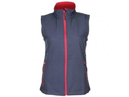 Promo dámská softshellová vesta šedá