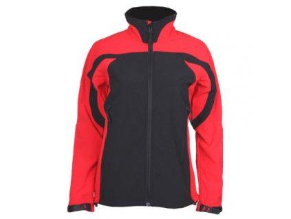 SBD-3 dámská softshellová bunda černá-červená