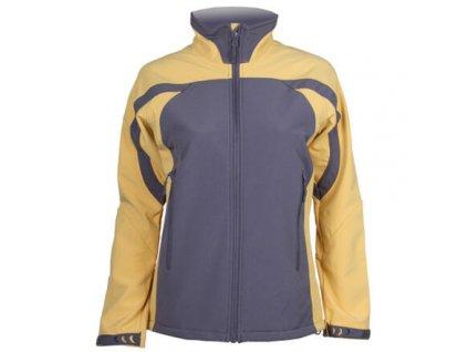 SBD-3 dámská softshellová bunda šedá-žlutá