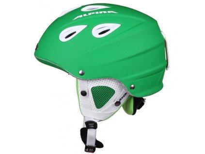 Grap lyžařská helma zelená matná