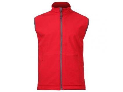 Vision pánská softshellová vesta červená