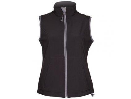 Vision dámská softshellová vesta černá