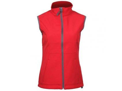 Vision dámská softshellová vesta červená