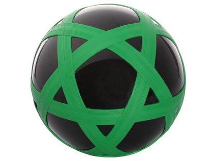 Cross Ball gumový míč černá-zelená