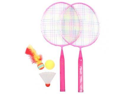 Training Set JR badmintonová sada růžová