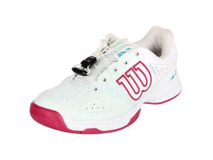 Kaos Junior QL 2021 juniorská tenisová obuv bílá
