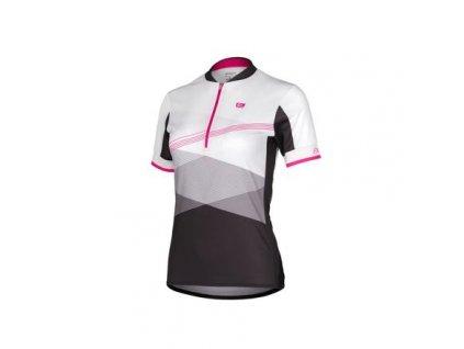 LIV cyklistický dres bílá-růžová