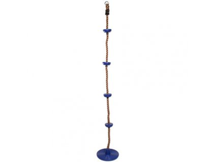 Swing šplhací lano s disky modrá