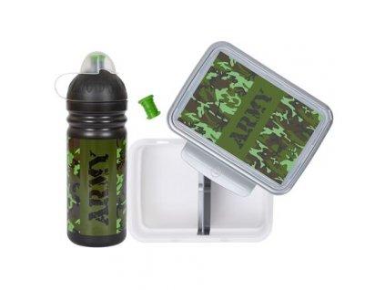 Army láhev a svačinový box
