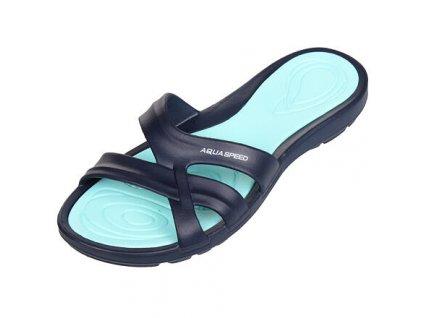 Panama dámské pantofle tm. modrá