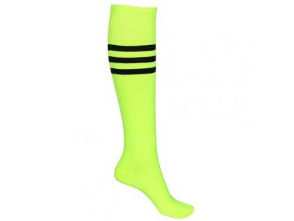 United fotbalové štulpny s ponožkou žlutá neon