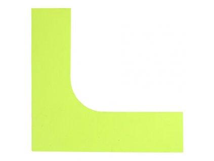 Corner značka na podlahu žlutá