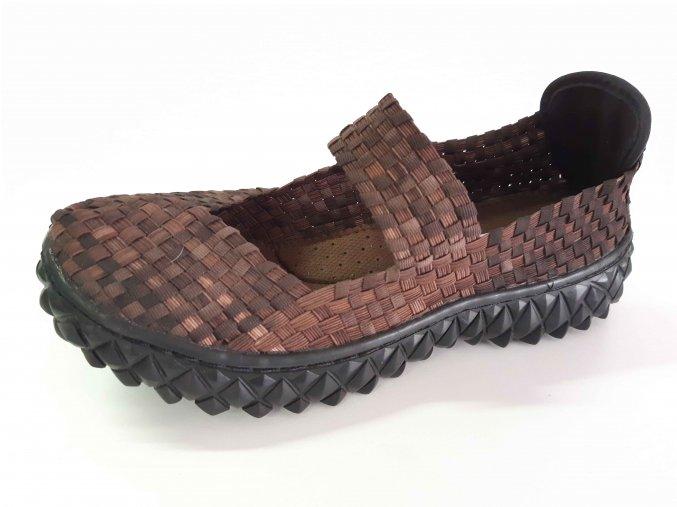 Rock Spring gumičková obuv Over W Coffee