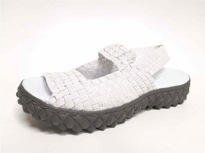 Rock Spring gumičková obuv Tropicana White Silver