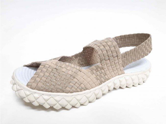 Rock Spring gumičková obuv Rihana Beige Silver