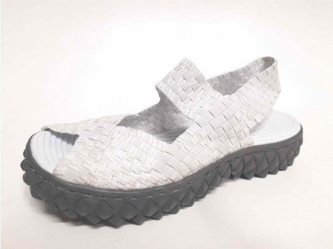 Rock Spring gumičková obuv Rihana White Silver RB
