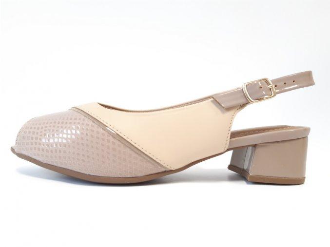 Piccadilly sandály 114 023-2 béžové