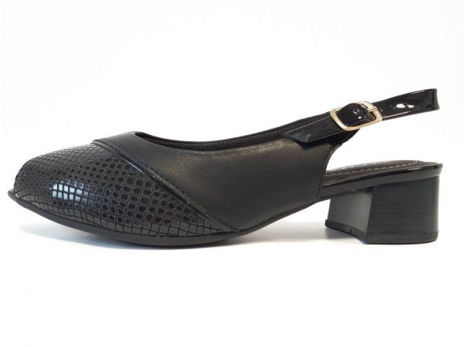 Piccadilly sandály 114 023-3 černé