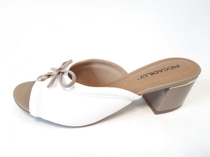 Piccadilly pantofle 542 085-5 bílé