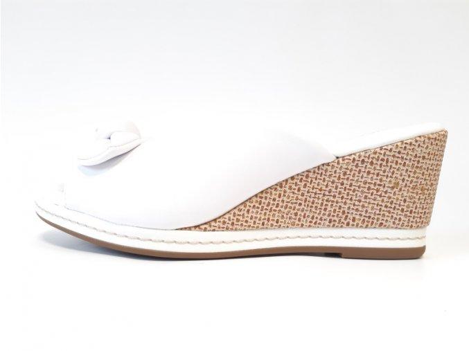 Piccadilly pantofle 408148-1 bílé