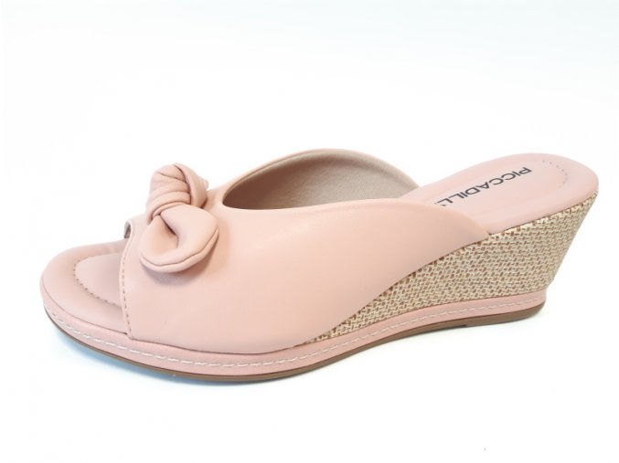 Piccadilly pantofle 408 148-6 růžové