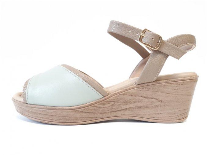 Piccadilly sandály 540 267-8 béžové/mentolové