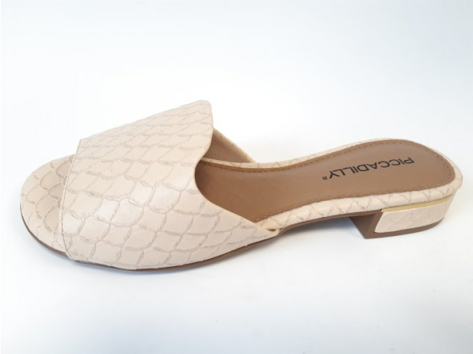 Piccadilly pantofle 558 011-7 béžové