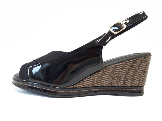 Piccadilly sandály 408 150-6 černé
