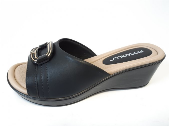 Piccadilly pantofle 540 264-5 černé