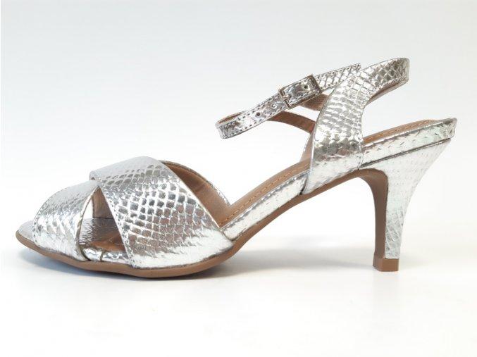 Piccadilly sandálky 757 003-5 stříbrné