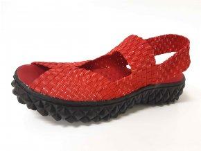 Rock Spring gumičková obuv Rihana Red Silver
