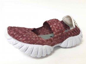Rock Spring gumičková obuv DNCE Met Bordo Smoke