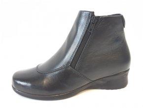 BBS dámské kožené boty B761305 černé