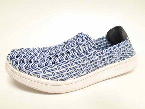 Rock Spring gumičková obuv Roxane Aqua White Stripes