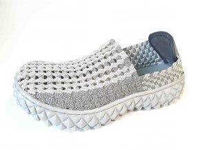 Rock Spring gumičková obuv Full Breath White Black Smoke