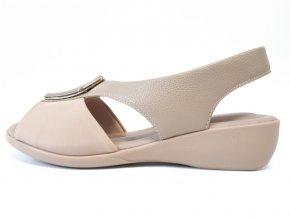 Piccadilly sandály 416077-4 béžové