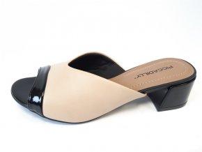 Piccadilly pantofle 524 006-2 béžové/černé