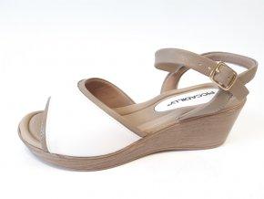 Piccadilly sandály 540 267-1 béžové/bílé