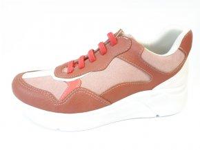 Piccadilly tenisky 986 002-10 růžové/hnědé