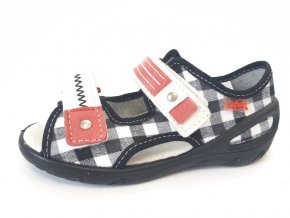 Befado dětské sandály 65X071 černobílé