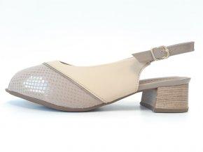 Piccadilly sandály 114 023-1 béžové