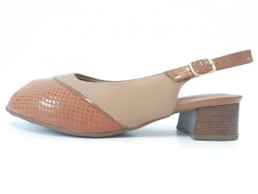 Piccadilly sandály 114 023-7 hnědé