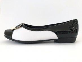 Piccadilly baleríny 251 063-4 černé/bílé