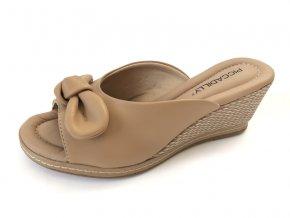 Piccadilly pantofle 408 148-3 hnědé