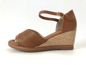 Piccadilly sandály 408 152-10 hnědé