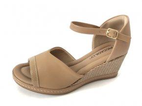 Piccadilly sandály 408 152-12 hnědé