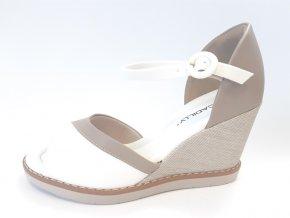 Piccadilly sandály 428 016-3 bílé/hnědé
