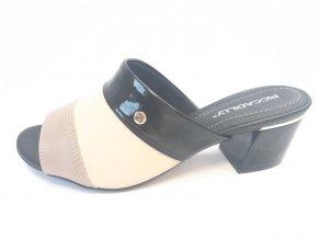 Piccadilly pantofle 542 087-5 černé/béžové